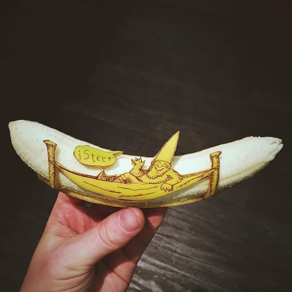 Beautiful Banana carving Art (4)